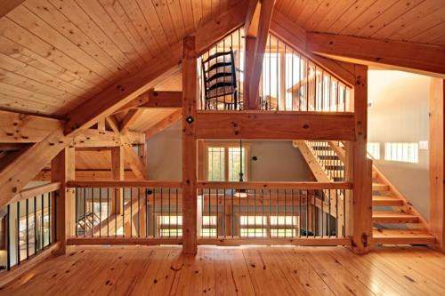 Timber-Frame-Loft-Space-with-Stairs